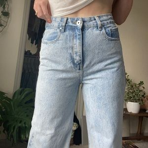 Cotton on wide leg jeans high waisted